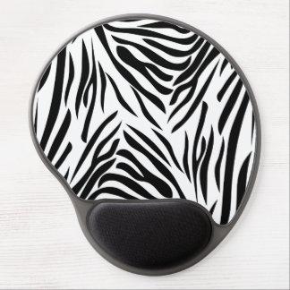 Estampado de zebra blanco y negro alfombrillas de raton con gel