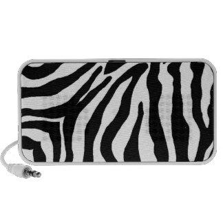 Estampado de zebra blanco y negro altavoces de viajar