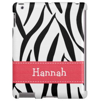 Estampado de zebra blanco y negro rosado