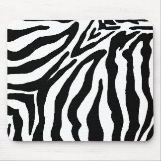 Estampado de zebra blanco y negro alfombrilla de ratón