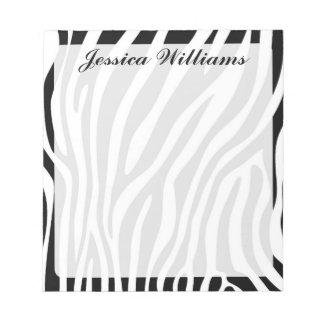 Estampado de zebra blocs de notas