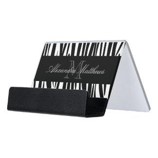 Estampado de zebra caja de tarjetas de visita para escritorio