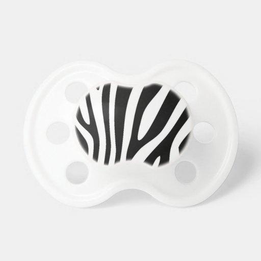 Estampado de zebra chupetes de bebé