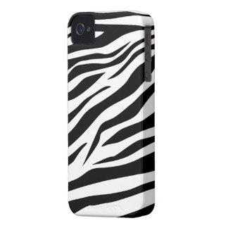 Estampado de zebra clásico imponente - caso del iP iPhone 4 Protector