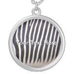 Estampado de zebra colgantes personalizados