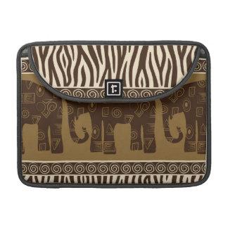 Estampado de zebra con el elefante de la impresión funda para macbook pro