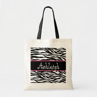 Estampado de zebra conocido de encargo rosado blan