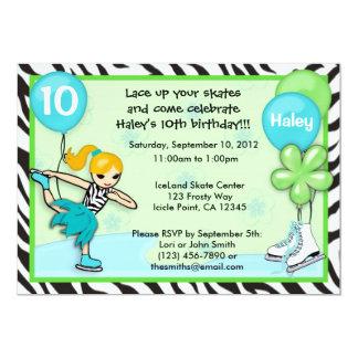 Estampado de zebra de la invitación del cumpleaños