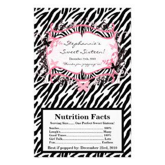 Estampado de zebra de la mariposa de la envoltura  tarjeta publicitaria