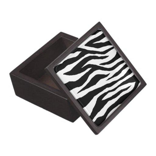 Estampado de zebra de la MOD Cajas De Recuerdo De Calidad