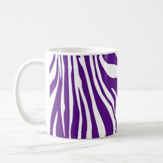 Estampado de zebra de la púrpura real taza de café