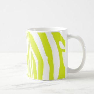 Estampado de zebra de la verde lima taza de café
