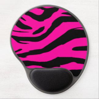 Estampado de zebra de las rosas fuertes alfombrilla de ratón con gel