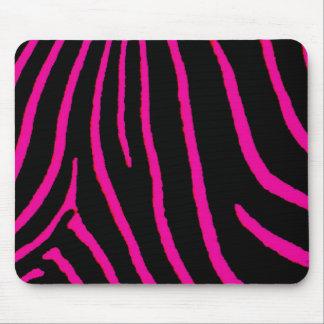 Estampado de zebra de las rosas fuertes alfombrillas de raton