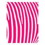 Estampado de zebra de las rosas fuertes y del blan membrete personalizado