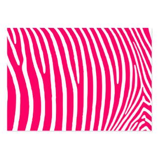 Estampado de zebra de las rosas fuertes y del tarjetas de visita grandes