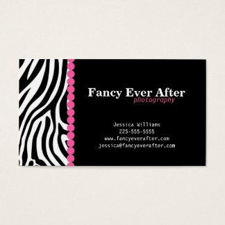 Estampado de zebra de lujo tarjetas de visita