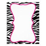 Estampado de zebra de moda con el papel con membre membretes personalizados