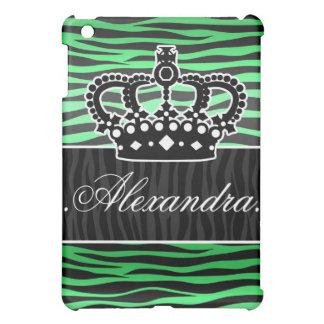 estampado de zebra de moda del verde esmeralda y d