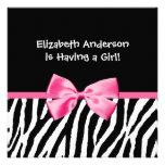 Estampado de zebra de moda y fiesta de bienvenida invitacion personalizada