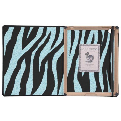 Estampado de zebra del agua iPad fundas