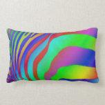 Estampado de zebra del arco iris almohada