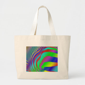 Estampado de zebra del arco iris bolsa de mano
