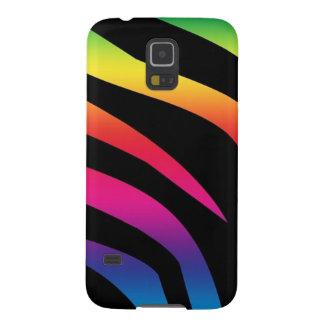 Estampado de zebra del arco iris carcasa de galaxy s5