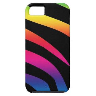 Estampado de zebra del arco iris funda para iPhone 5 tough
