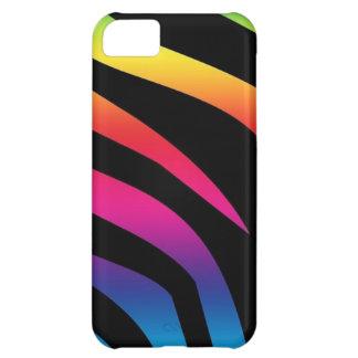 Estampado de zebra del arco iris funda para iPhone 5C