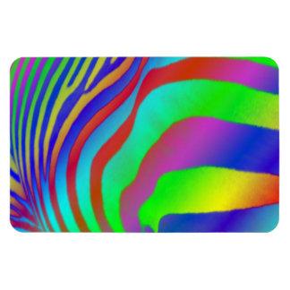 Estampado de zebra del arco iris imán