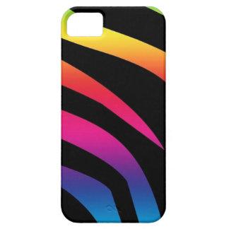 Estampado de zebra del arco iris iPhone 5 carcasas