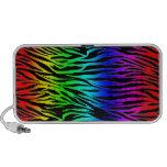 Estampado de zebra del arco iris mp3 altavoces