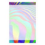 Estampado de zebra del arco iris papelería personalizada