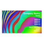 Estampado de zebra del arco iris plantillas de tarjetas personales