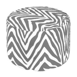 Estampado de zebra del gris y del blanco de carbón