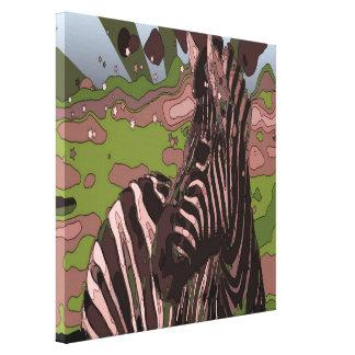 estampado de zebra elegante moderno del safari impresiones de lienzo