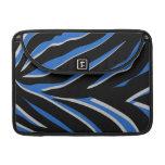 Estampado de zebra en azul fundas macbook pro