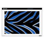 Estampado de zebra en azul calcomanía para 43,2cm portátil