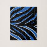 Estampado de zebra en azul puzzle con fotos