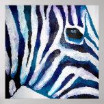 Estampado de zebra en la púrpura y el trullo (arte impresiones