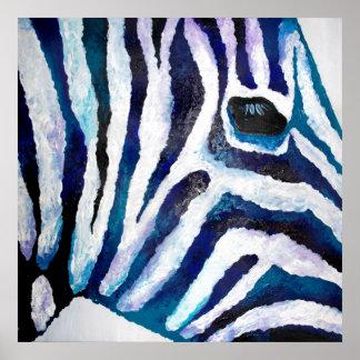 Estampado de zebra en la púrpura y el trullo (arte póster
