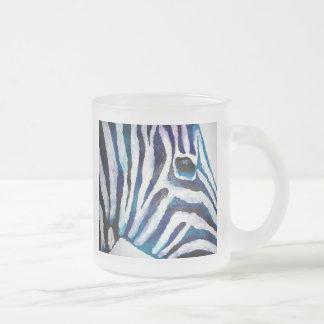 Estampado de zebra en la púrpura y el trullo (arte taza