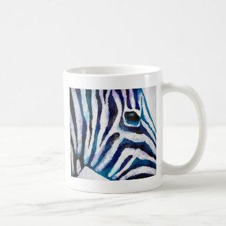 Estampado de zebra en la púrpura y el trullo (arte taza de café