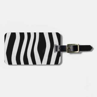 Estampado de zebra etiqueta para maleta