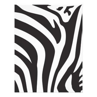 Estampado de zebra tarjeton