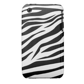 Estampado de zebra imponente iPhone 3 fundas