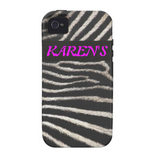 Estampado de zebra iPhone 4 funda
