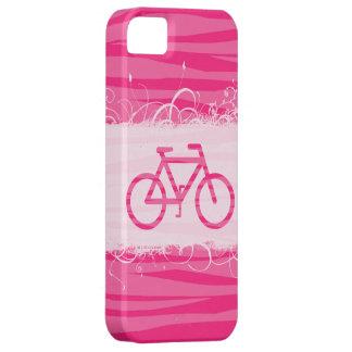 Estampado de zebra lindo de la bicicleta iPhone 5 carcasa