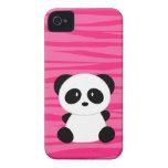 Estampado de zebra lindo de la panda Case-Mate iPhone 4 protector